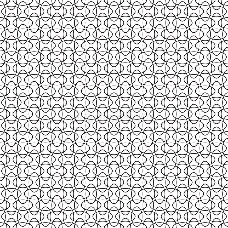 Nahtloser schneidener geometrischer Überschneidungsellipsenkreis-Musterhintergrund stock abbildung