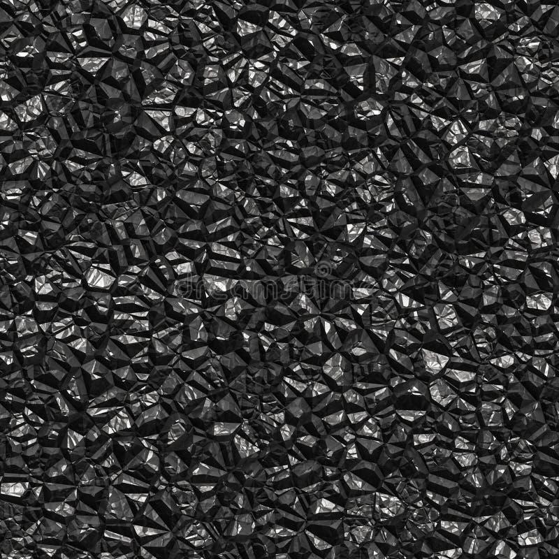 Nahtloser schwarzer Kohlenhintergrund stockfoto