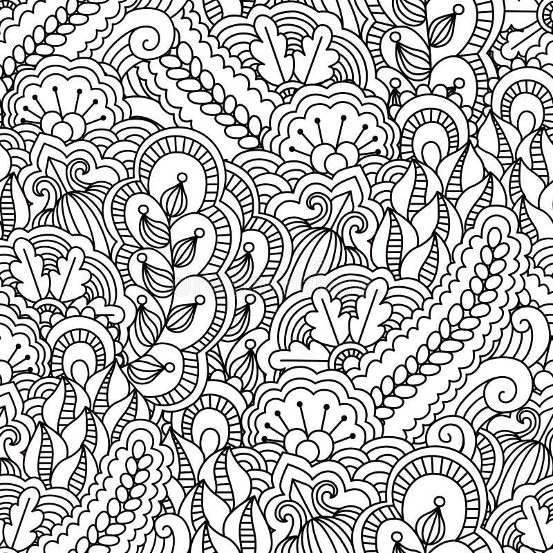 Nahtloser Schwarzweiss-Hintergrund lizenzfreie abbildung