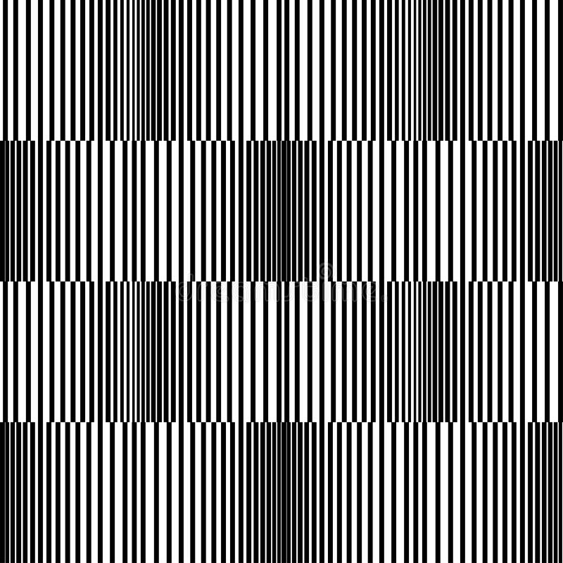 Nahtloser Schwarzweiss-Musterhintergrund lizenzfreie abbildung
