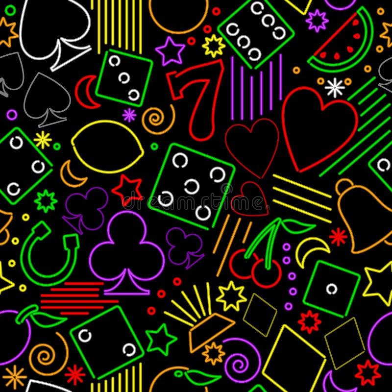 Nahtloser spielender Neonhintergrund lizenzfreie abbildung