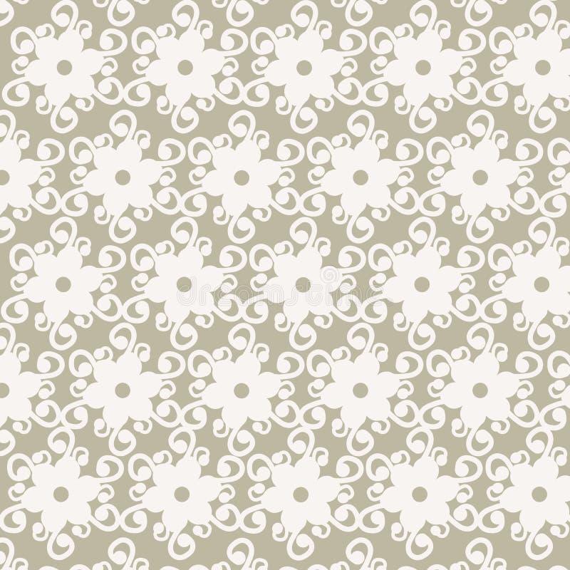 Nahtloser Spitzemustervektor der weißen Blume lizenzfreie abbildung
