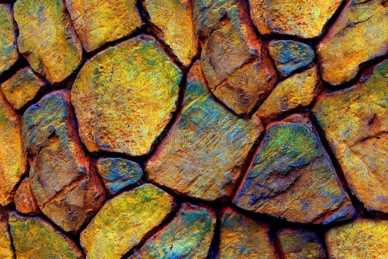 Nahtloser Steinwandhintergrund mit bunten Beschaffenheiten lizenzfreies stockfoto