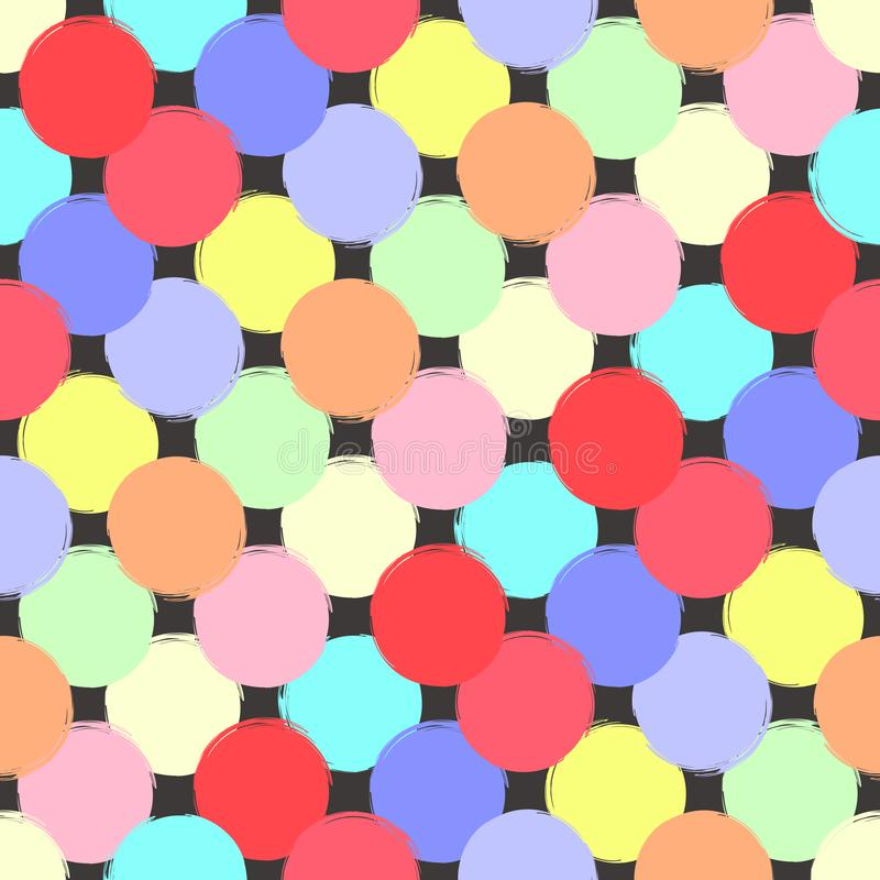 Nahtloser Tintenpastell des geometrischen Designs färbte bunte Tupfen lizenzfreie abbildung