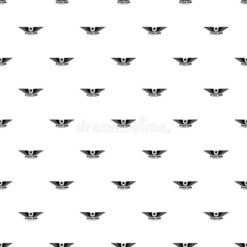Nahtloser Vektor des Atack-avia Team-Musters stock abbildung