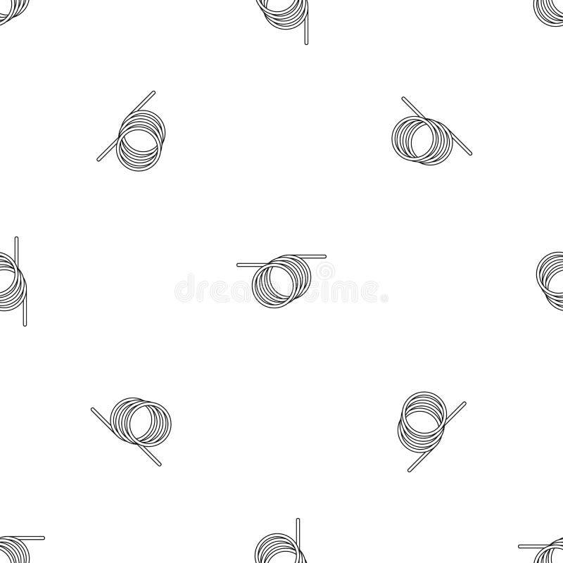 Nahtloser Vektor des gewundenen Kabelmusters lizenzfreie abbildung