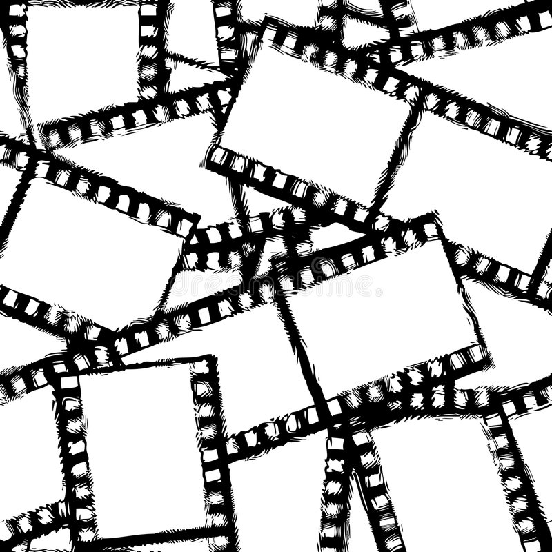Nahtloser Vektor des Grunge Filmes vektor abbildung