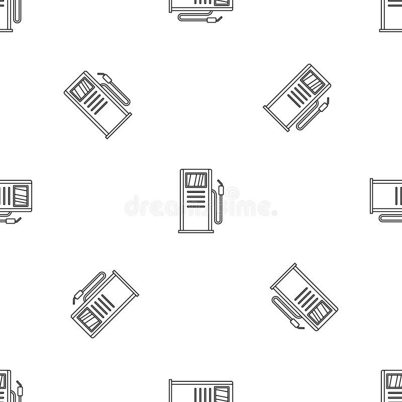 Nahtloser Vektor des Tankstelle-Musters lizenzfreie abbildung