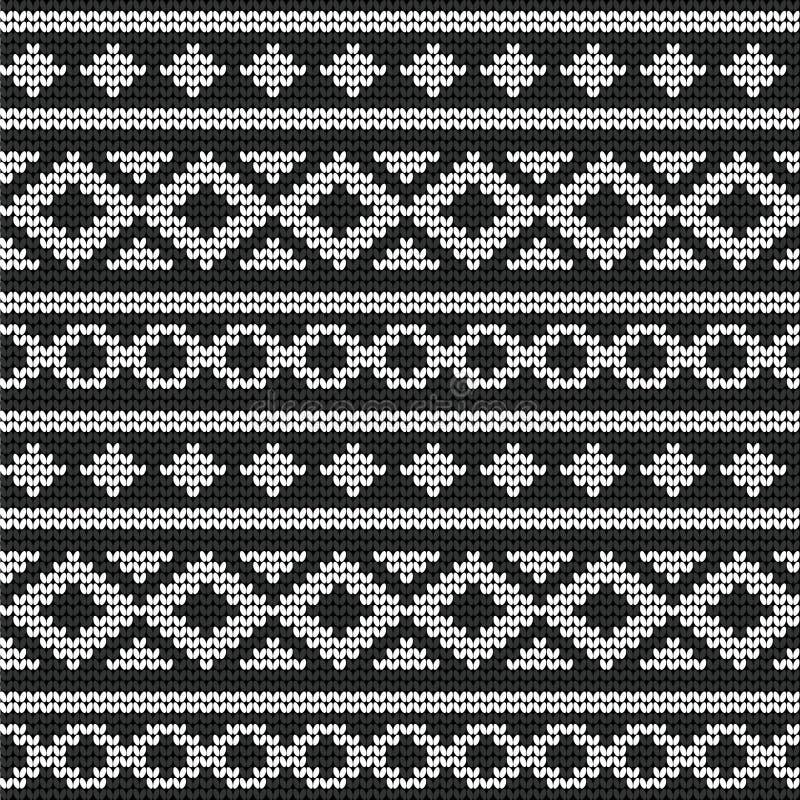 Nahtloser Vektor gestricktes Muster vektor abbildung