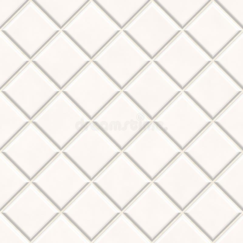 Nahtloser weißer Fliesebeschaffenheitshintergrund vektor abbildung