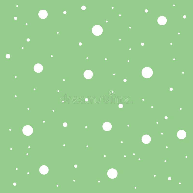 Nahtloser weißer Punkt des abstrakten grünen Musters, Kreismusterhintergrund, Tapete stock abbildung