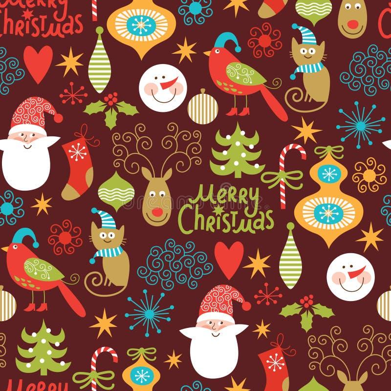 Nahtloser Weihnachtshintergrund vektor abbildung