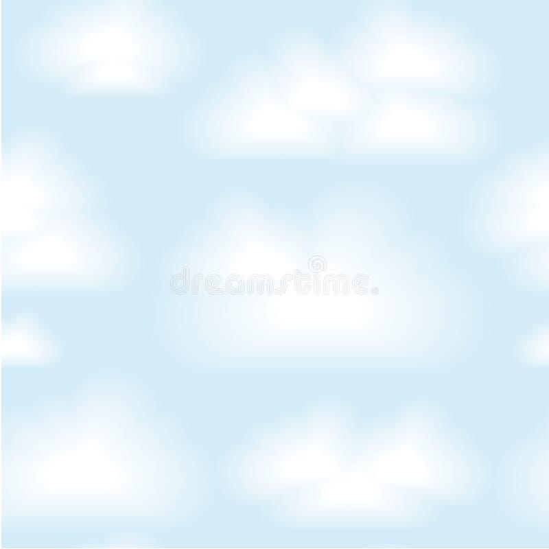 Nahtloser Wolkenhintergrund des Vektors. ENV 10 stock abbildung