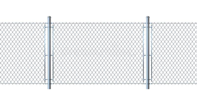 Nahtloser Zaun hergestellt von der Metalldrahtmasche lizenzfreie abbildung