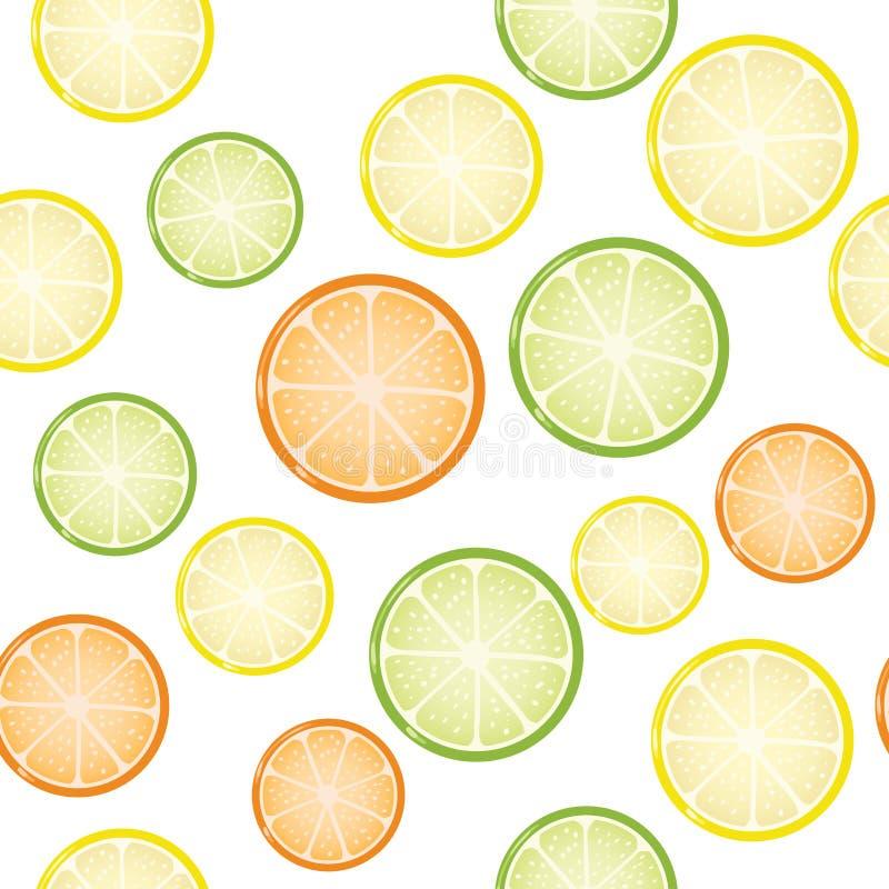 Nahtloser Zitrusfruchthintergrund lizenzfreie abbildung
