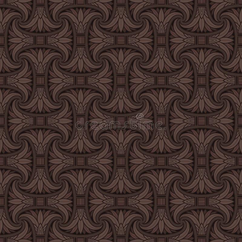 Nahtloses ägyptisches Muster vektor abbildung