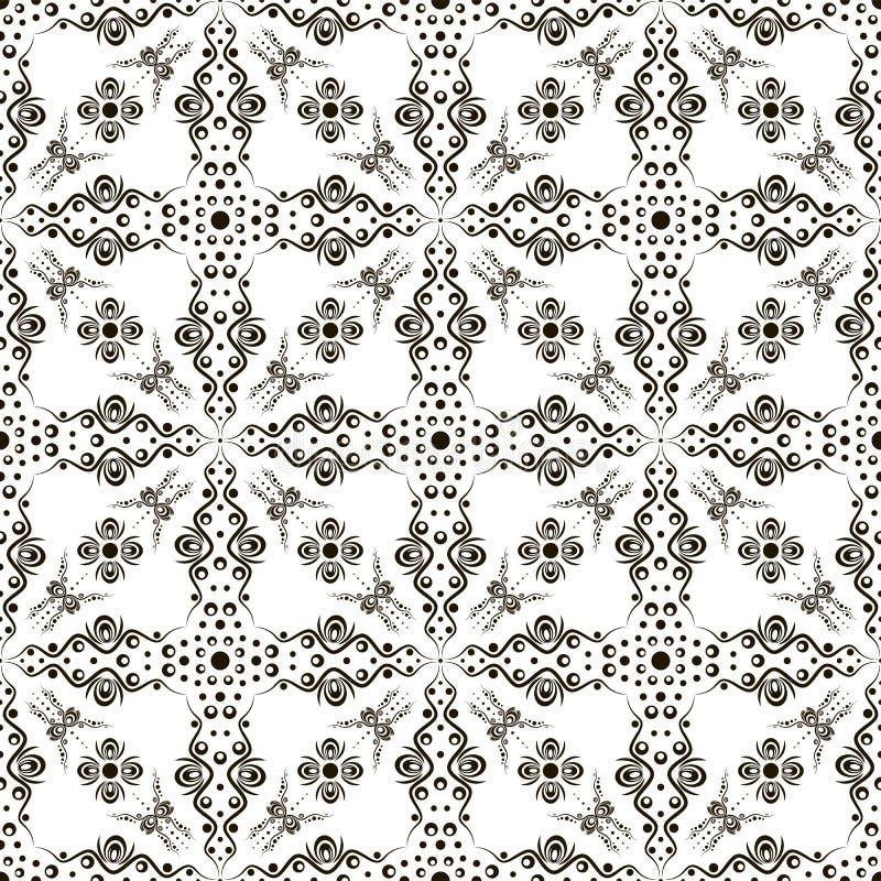 Nahtloses abstraktes Blumenmuster mit Strudeln vektor abbildung