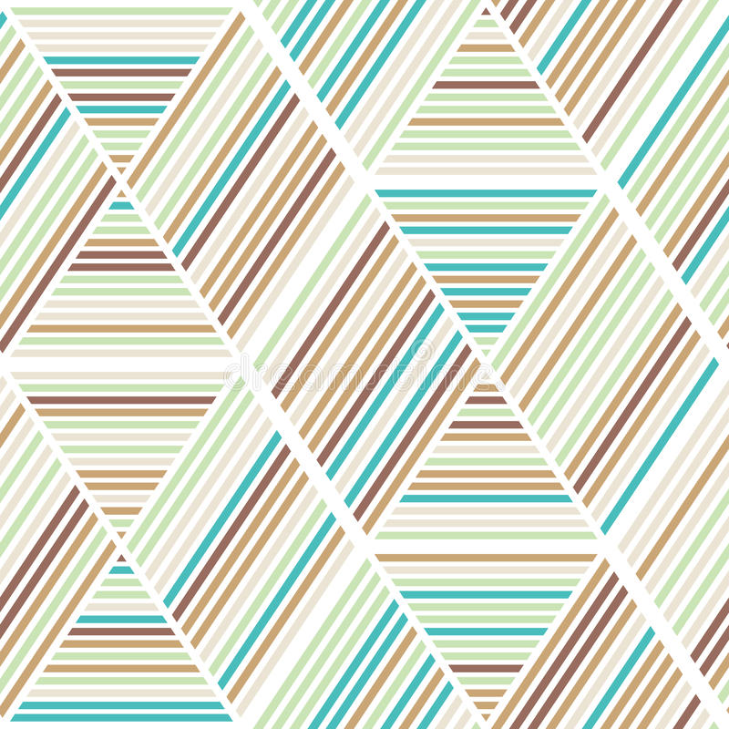 Nahtloses abstraktes Geometriehintergrundmuster vektor abbildung