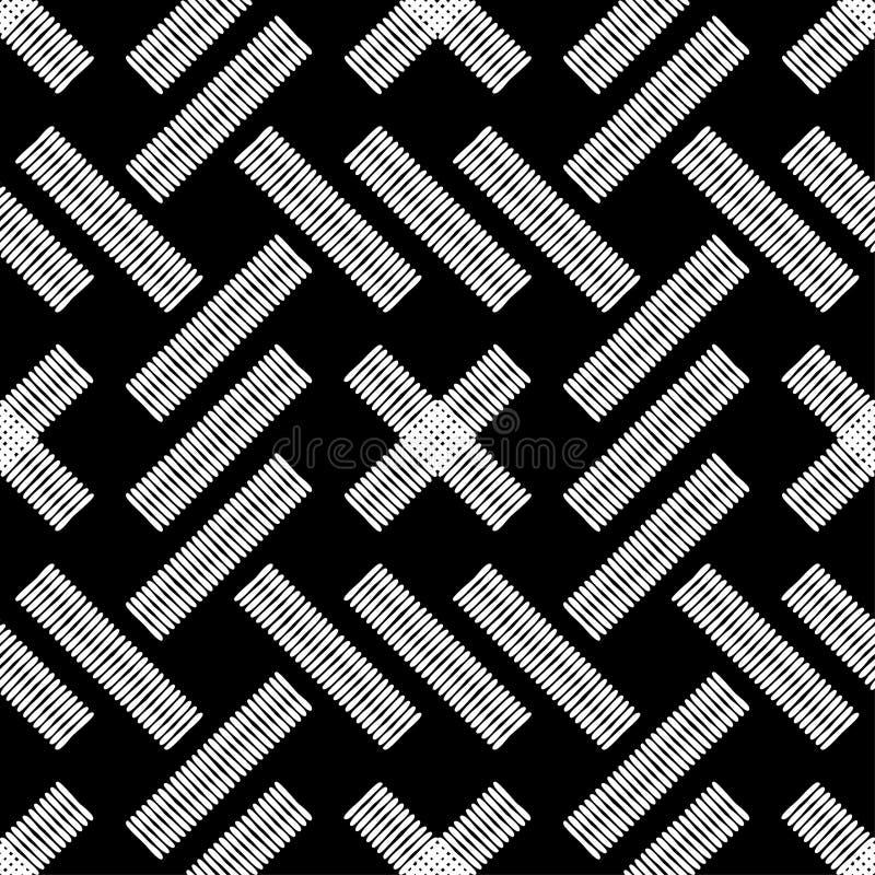 Nahtloses abstraktes geometrisches Muster Kann für Hintergrund verwendet werden brushwork Handausbrüten Gekritzelbeschaffenheit lizenzfreie abbildung