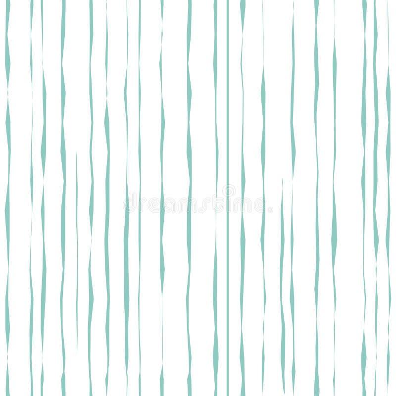 Nahtloses abstraktes geometrisches Muster mit blaue Handgezogenen Streifen B?rsten Sie sch?bige Anschl?ge vektor abbildung