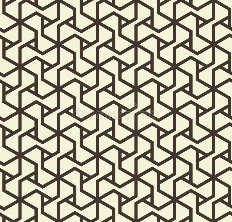 Nahtloses abstraktes geometrisches Muster mit Dreieck zeichnet in Schwarzweiss - vector eps8 lizenzfreie abbildung