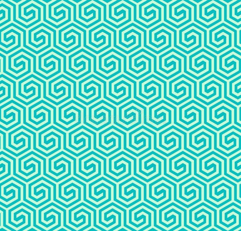 Nahtloses abstraktes geometrisches sechseckiges Muster - vector eps8 lizenzfreie abbildung