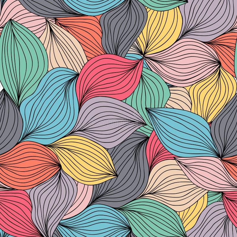 Nahtloses abstraktes gewelltes von Hand gezeichnetes Muster Endloses abstraktes patt vektor abbildung