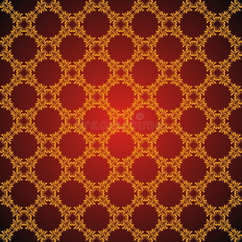 nahtloses abstraktes goldenes orient muster vektor. Black Bedroom Furniture Sets. Home Design Ideas