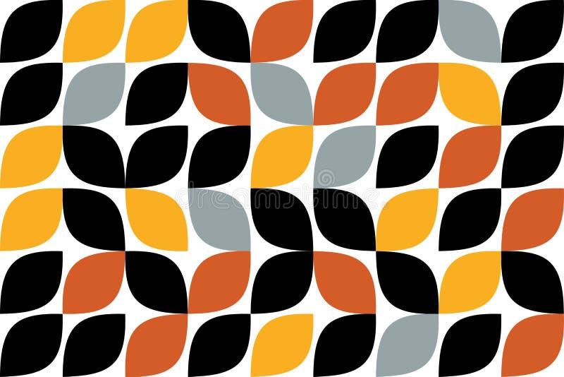 Nahtloses, abstraktes Hintergrundmuster gemacht mit curvy Tropfen wie Formen lizenzfreie abbildung