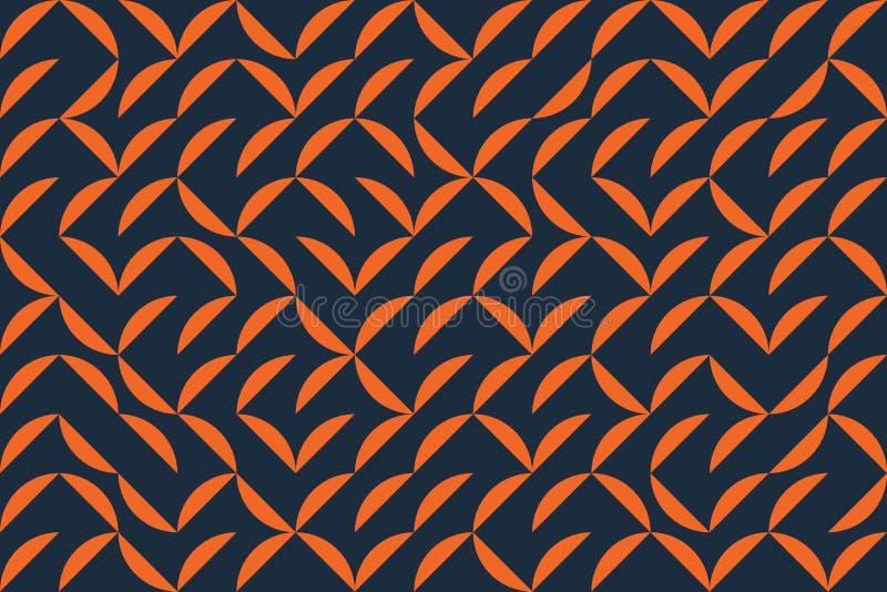 Nahtloses, abstraktes Hintergrundmuster gemacht mit kreisförmigen geometrischen Formen vektor abbildung