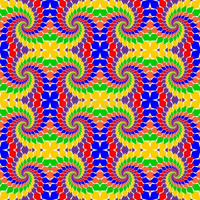 Nahtloses abstraktes Mehrfarbenmuster des Designs.  Surren Sie lizenzfreie abbildung