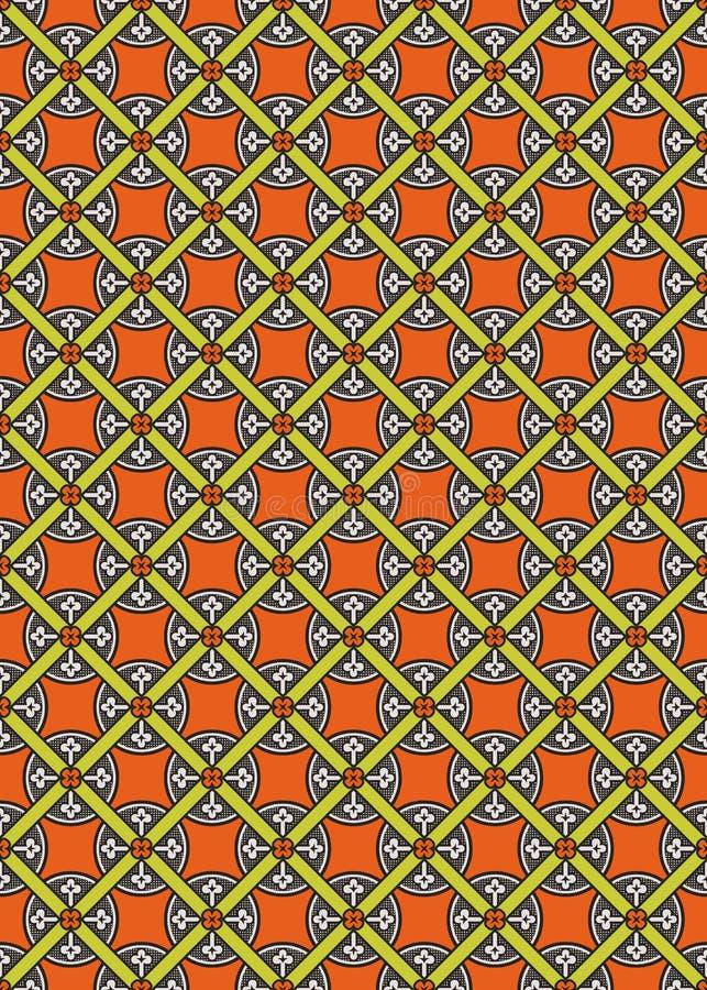 Nahtloses abstraktes mittelalterliches vektormuster lizenzfreie abbildung