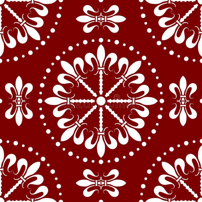 Nahtloses abstraktes Muster [2] lizenzfreie abbildung