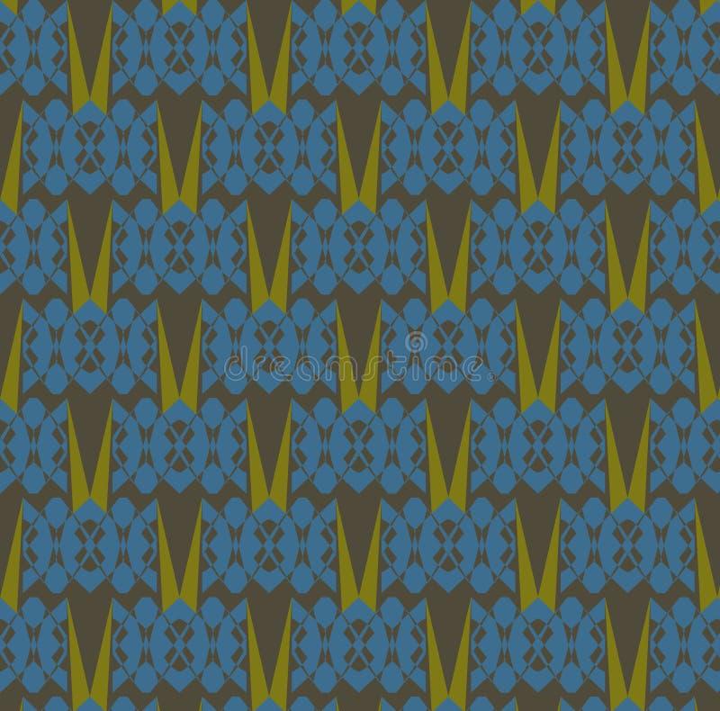Nahtloses abstraktes Muster: Blaue Schildkröten und Gras lizenzfreies stockfoto