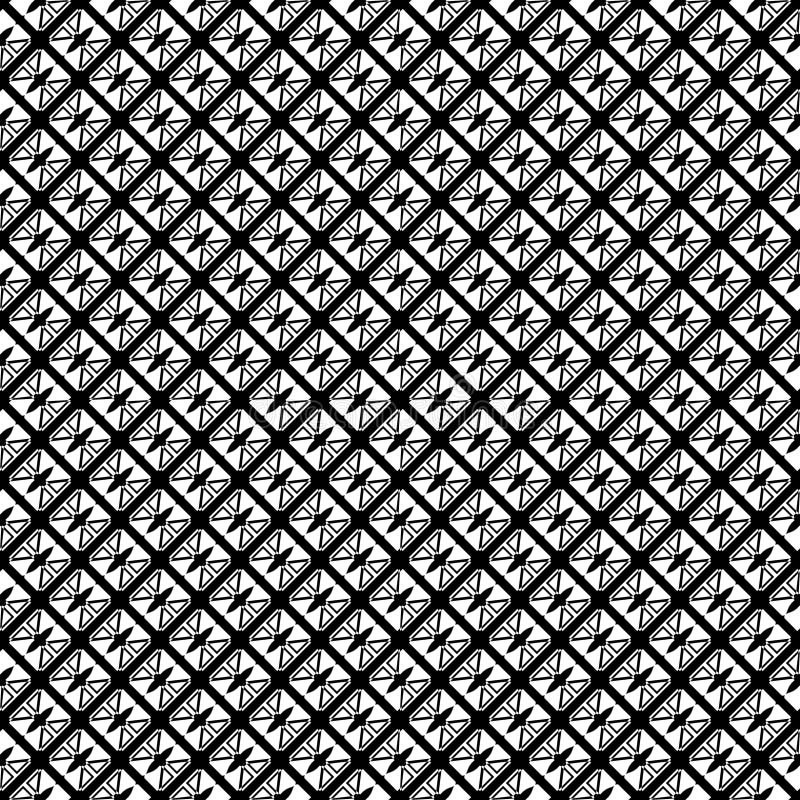 Nahtloses abstraktes Muster des Vektors Schwarzweiss Abstrakte Hintergrund Tapete Auch im corel abgehobenen Betrag lizenzfreie abbildung