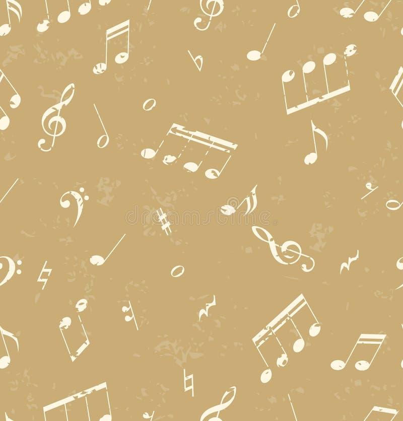 Nahtloses abstraktes Muster mit Musiksymbolen stock abbildung