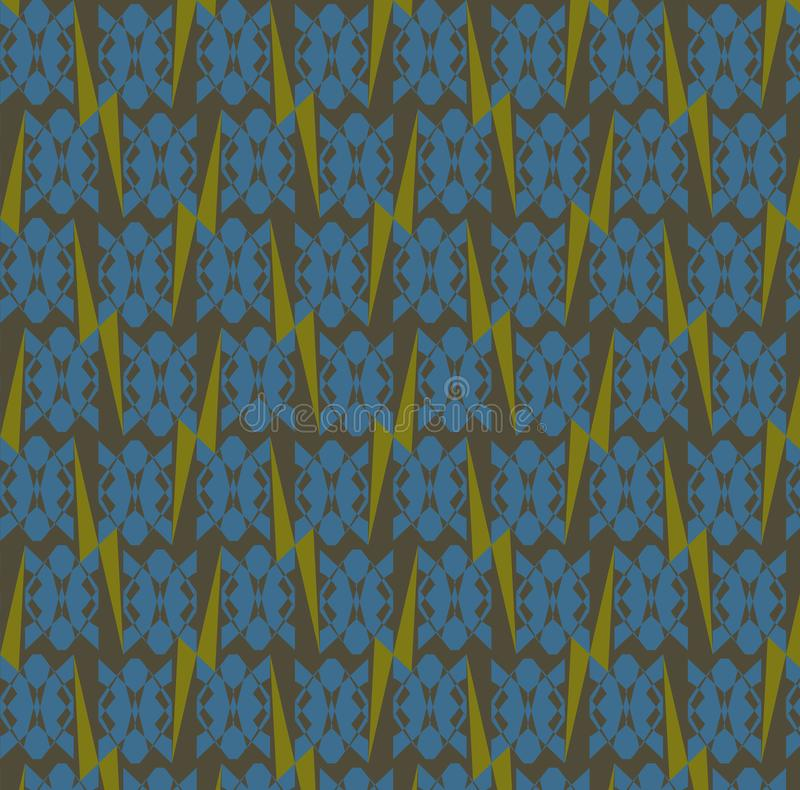 Nahtloses abstraktes Muster: Schildkröten und Blitze lizenzfreie stockfotos