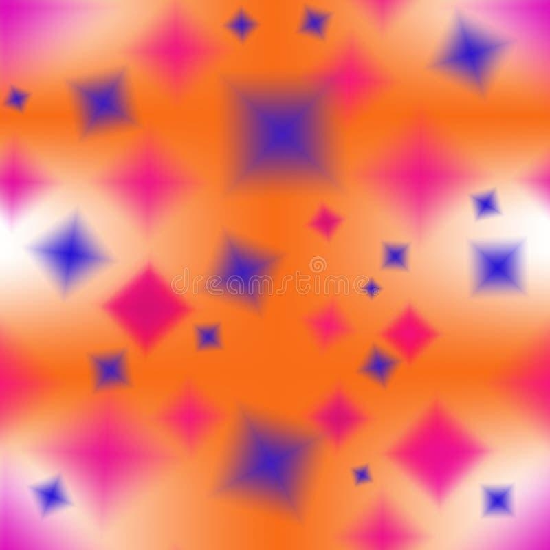 Nahtloses abstraktes Muster von mehrfarbigen undeutlichen Elementen lizenzfreie abbildung