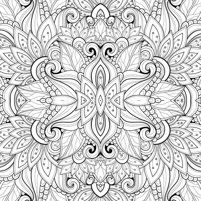 Nahtloses abstraktes Stammes- Muster (Vektor) stock abbildung