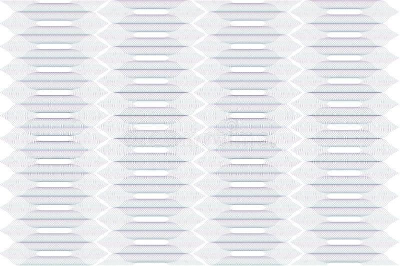 Nahtloses abstraktes Steigungsmuster mit der violetten gr?nen Guillocheverzierung lokalisiert auf transparentem Hintergrund Kompl lizenzfreies stockbild