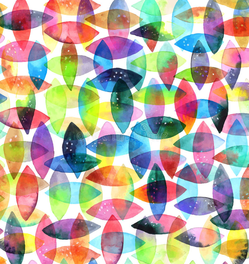 Nahtloses abstraktes von Hand gezeichnetes Muster des Aquarells lizenzfreie abbildung