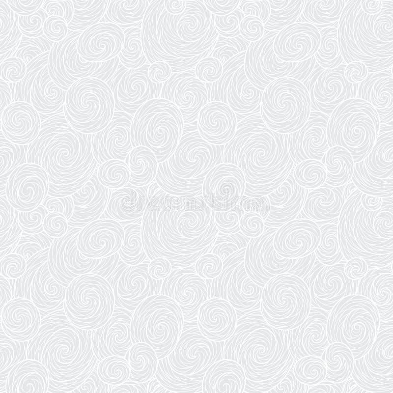Nahtloses abstraktes von Hand gezeichnetes Wellenmuster, gewellter Hintergrund lizenzfreie abbildung