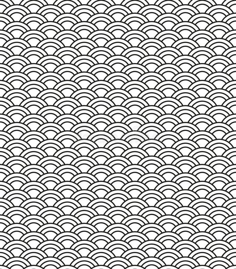 Nahtloses abstraktes Wellenmuster Punkt, Lautsprecher, industrieller Hintergrund vektor abbildung