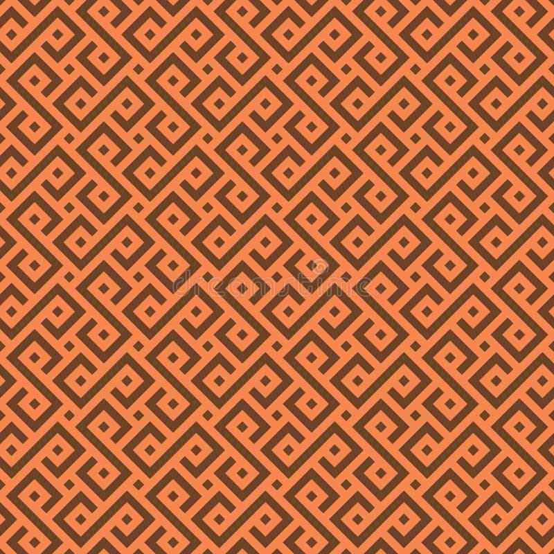 Nahtloses afrikanisches Muster des Vektors vektor abbildung