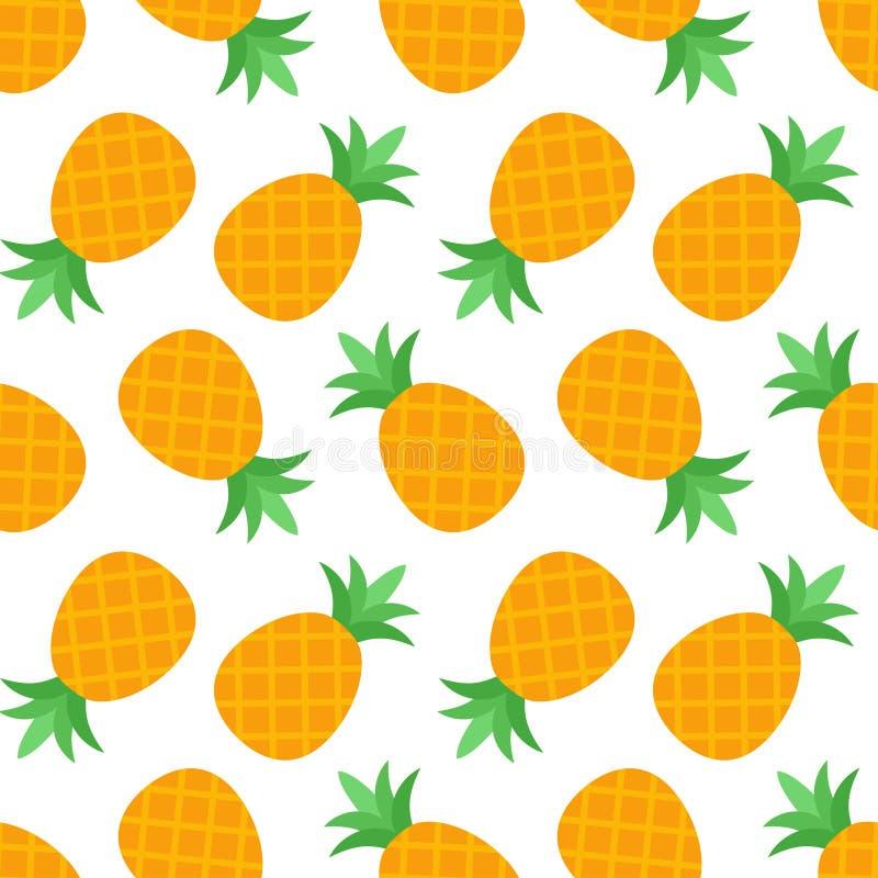 Nahtloses Ananas-Muster stock abbildung