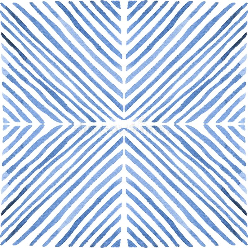 Nahtloses Aquarellmuster Von Hand gezeichnete Farbenlinien Weinlese geo stock abbildung