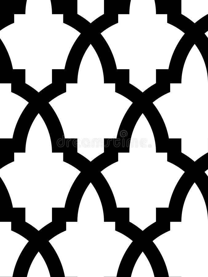 Nahtloses arabisches Mosaik lizenzfreie abbildung