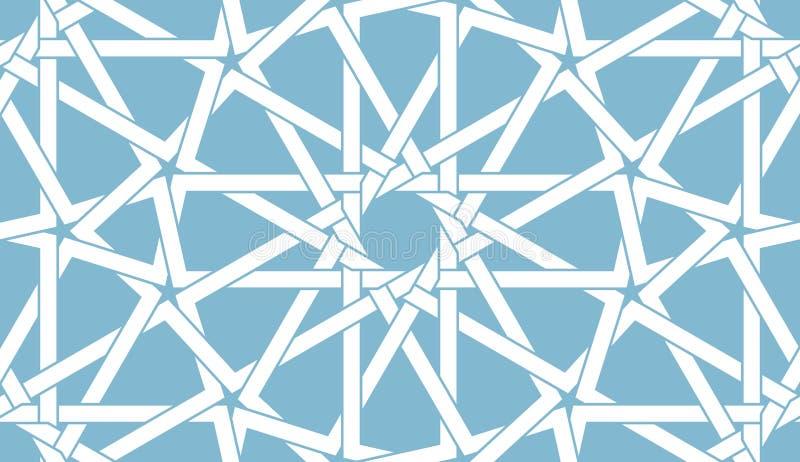 Nahtloses arabisches Muster stock abbildung