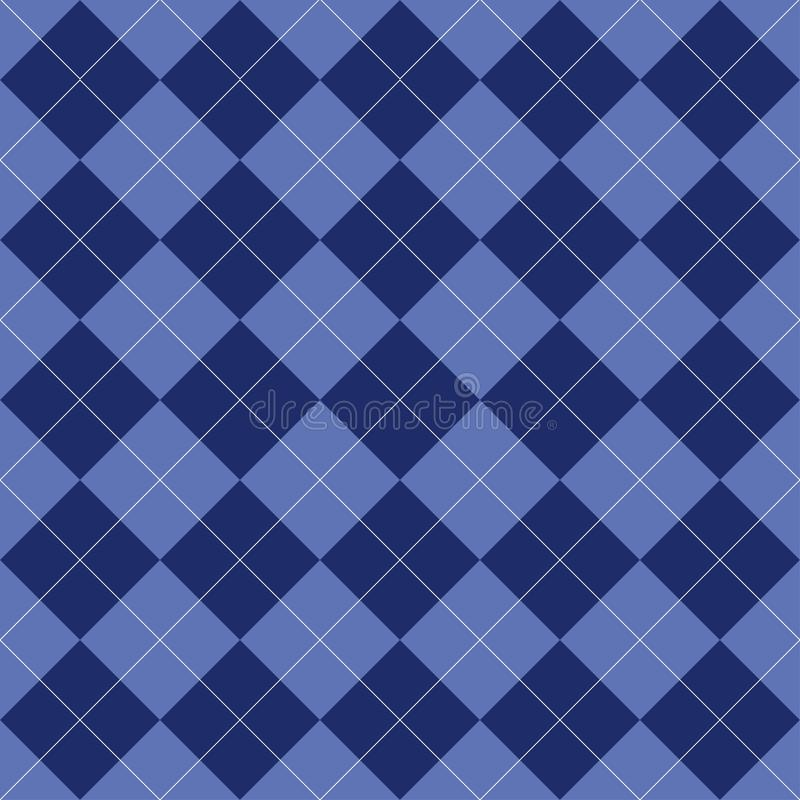 Nahtloses argyle Muster Raute der blauen Farbe Beschaffenheit für Plaid, Tischdecken, Kleidung, Hemden und andere Textilerzeugnis vektor abbildung