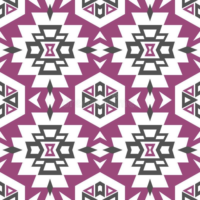 Nahtloses aztekisches Muster stockfotos